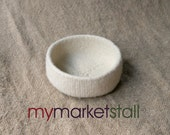 Natural Felted Bowl  - Ready to Ship