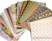57pc Scrapbooking Paper Pack, Origami Papers, Journalling Decoupage Scrap Supplies Lot, Washi Japanese, Ephemera, Cute Patterned - Set A
