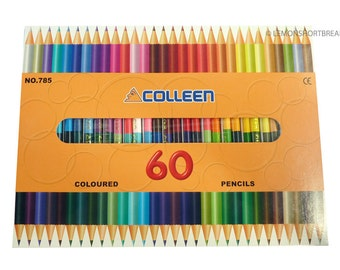 Colleen 60 Colours 30 Double Colored Pencils, No. 785, for adult colouring books, japanese, illustrations, scrapbooking
