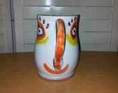 1960s Desimone Italian Art Pottery Cheerful Happy Face Candlestick Holder