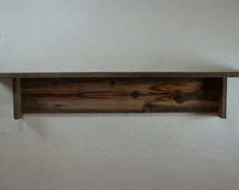Reclaimed wood wall shelf  35 wide 5 deep beautiful natural grays and browns