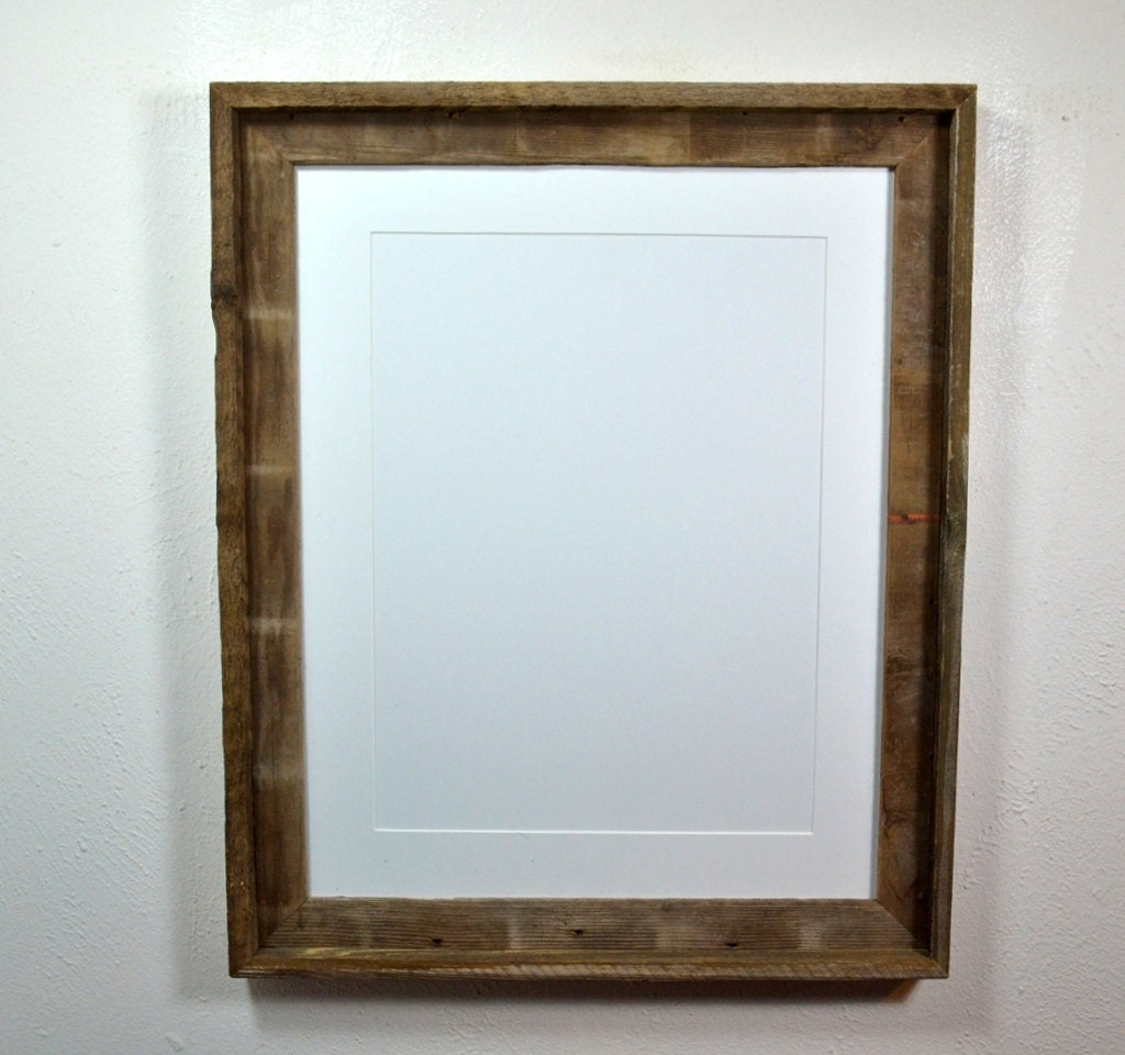 16x20 Poster Frame From Reclaimed Wood With Mat 11x17 Or