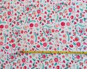NEW Art Gallery Bullion Fronds Carnation on cotton Lycra  knit fabric 1 yard