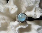 Beautiful Iridescent Moonstone  Ring Size 9.25