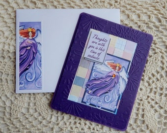 Sympathy Christian, handmade, purple, complete inside, complete yesterday, weaving, balsampondsdesign, greeting card, sympathy card