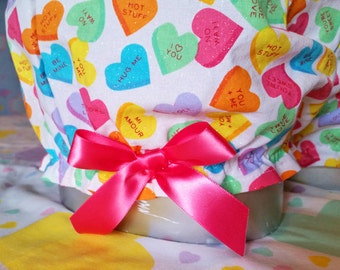 Conversation heart bloomers, Valentines Day fairy kei candy raver size medium M