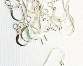 100  pcs of silver plated  fishhook ear wire  with ball 14x0.7mm