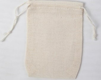 1000 2.75x4 inch Cotton Muslin Double Drawstring Bags Priority Mail International