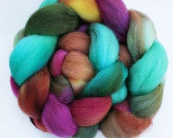 "BFL Wool  Spinning Fiber, 4 oz, ""Lilypad"""