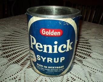 Vintage Golden Penick 3 Qt. Syrup Can
