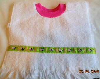 Cows and Flowers Baby/Toddler Slip On Bib