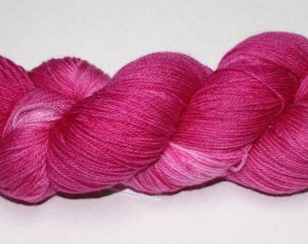 Hot Pink Hand Dyed Sock Yarn