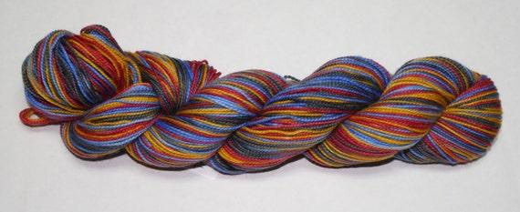 Trekkie Self Striping Hand Dyed Sock Yarn