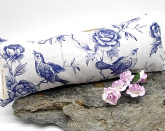 Lavender Eye Pillow - Peony and Song Birds - Yoga, Meditation, Stress, Aromatherapy, Lavender, Calming, Sleep, Spa, Relaxization