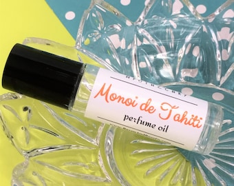 MONOI DE TAHITI Perfume Oil // vegan roll on fragrance scent //free shipping!