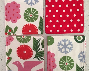 Drink Coasters - Set of 4 - Christmas Theme
