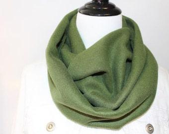 Women's Fleece Infinity Scarf Army Green
