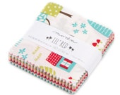 SALE 2 Packs - 2.5 inch MINI charm pack LIL' Red Riding Hood Moda Fabric by Stacy Iset Hsu