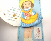 Betsy Dress A Doll Storybook Vintage 1960s Paper Doll Book with Clothing Changes and Cut Outs