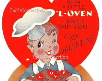 Valentines Day Sale Vintage Valentine Digital Download, Bakers Dozen, With a Little Lovin I could win you - My Valentine