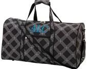 Black Diamond Lattice Large Duffel Bag - Includes 3 Letter Monogram or Name