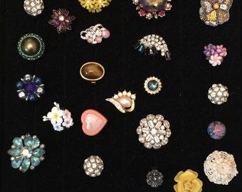 Sale 38 Rings Repurposed Designer Earrings Adjustable New Bases LUXE