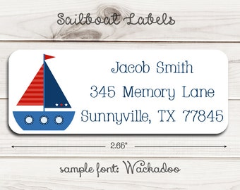 Sailboat Return Address Labels