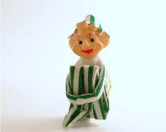 Vintage Christmas Ornament Decoration Pixie Elf Kneehugger