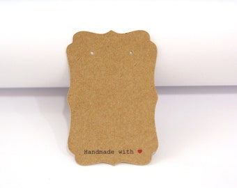 """custom order - 4000 pieces of cards with """"Handmade with Red Heart"""""""