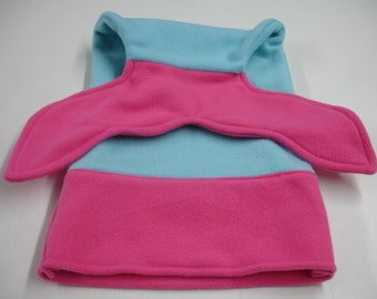 Mermaid Tail Hot Pink and Aqua Fleece DOLL INFANT BABY Size 10 x 18 Ready to Ship