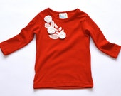 SAMPLE SALE -  Flora t-shirt in Scarlet - Size 7... Perfect!