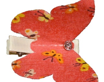 Butterfly Hairclips - Set of Four -  2 Coral & 2 Blush
