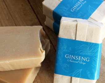 Ginseng and Ginger Natural Soap with Olive oil | Handmade soap | Organic soap | Bar soap | Regenerating effect