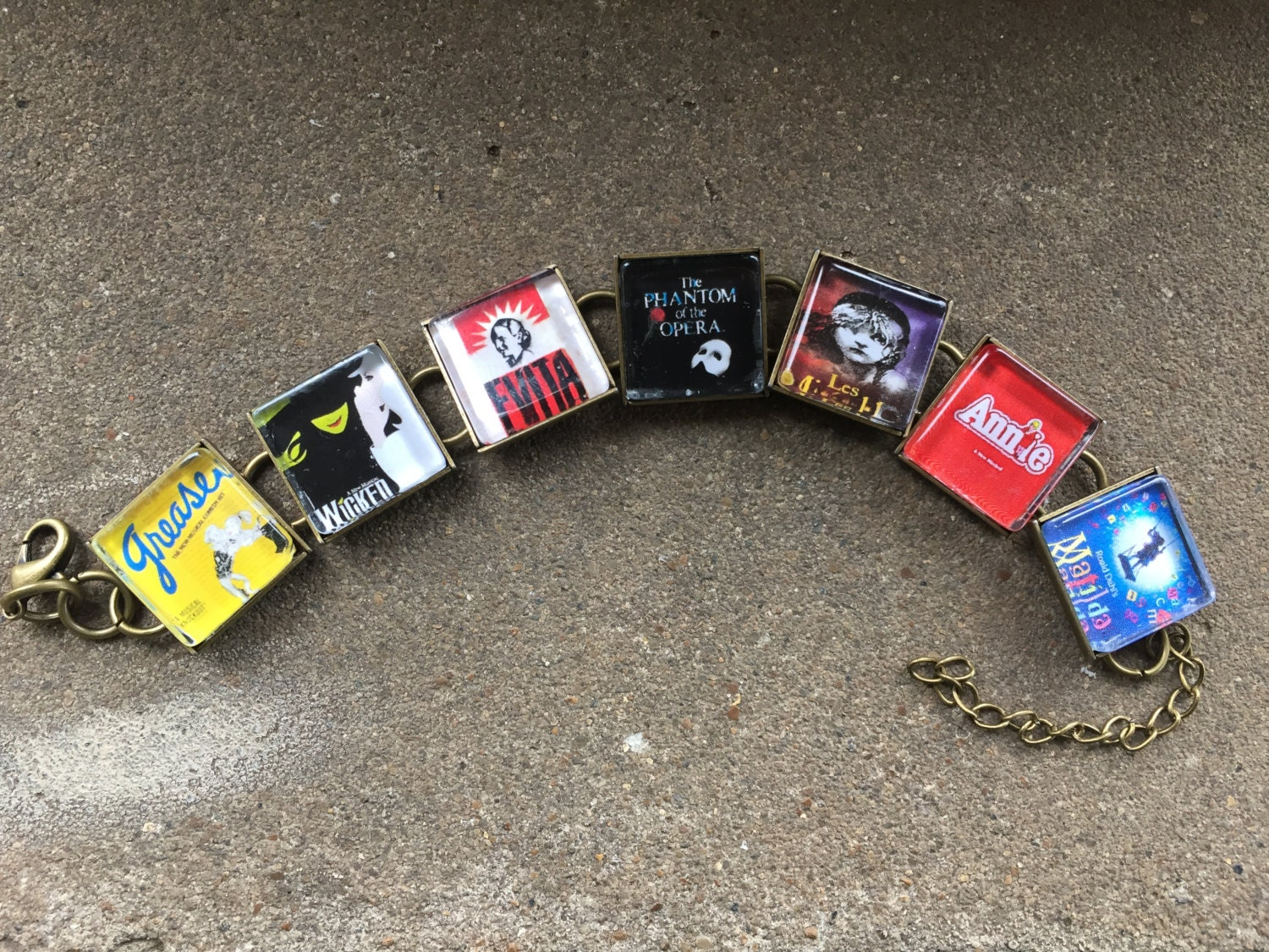 Design your own t-shirt hamilton - Design Your Own Favorite Broadway Musical Link Bracelet Free Usa Shipping