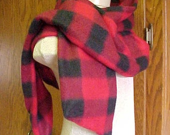 EXTRA LONG SCARF~~Beautiful Black and Red Scarf~~Wear it Many Different Ways~~Wool Blend~~Very Versatile~~Easy to Wear!