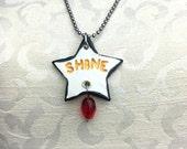 SHINE Stamped Ceramic Necklace