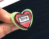Clay TRUE LOVE Ring