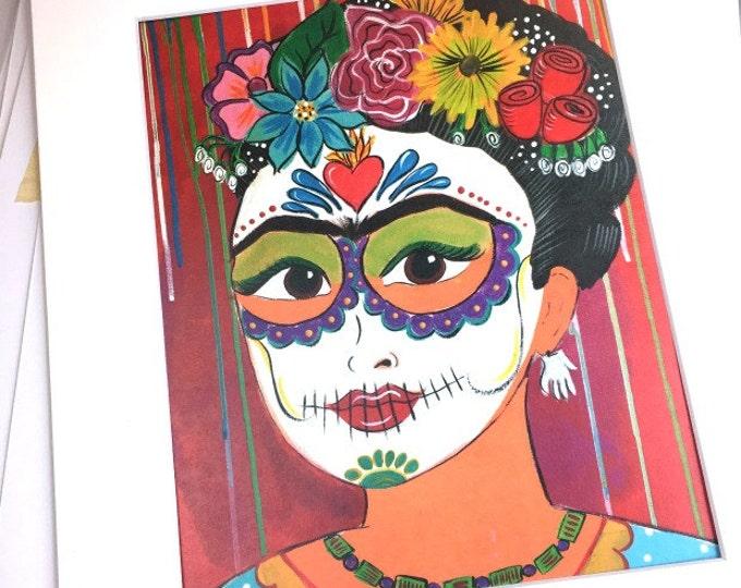 Frida Muertos Print 8x10