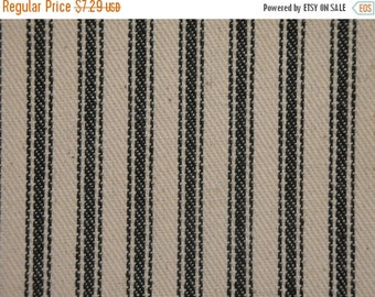 40% OFF SALE Vintage Inspired Hunter Green Cotton Ticking Stripe Material 27 x 44