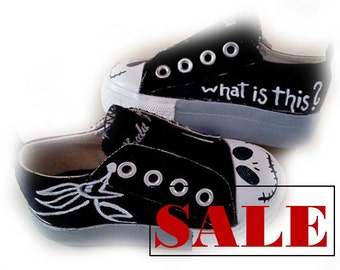 SALE, Jack Skellington, Sneakers, Infant Shoes, Size 3, Baby, Nightmare Before Christmas, Only 1 Pair Available