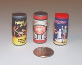 Tinker Toy Thing-A-Jigs and Erector Set Canisters Dollhouse Miniature