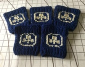 Set of 5 Trefoil Knitted Cup Cozies - RESERVED