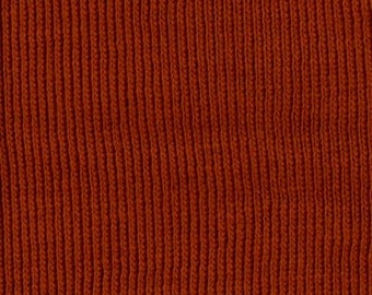RUST Heavy Weight 1x1 RIBBING, Unknown blend, Fat Eighth, 9 x 19 inches