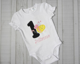 Personalized Bumble Bee Birthday Bodysuit Shirt - Birthday Shirt - Bumble Bee Birthday - Personalized Birthday Shirt