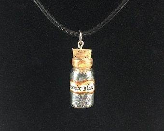 Phoenix Blood Bottle Charm Necklace