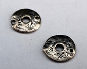 Linkl Round Sterling Silver Earring Components Artisan 002/