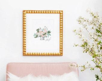 PRE-ORDER Pastel Floral Arrangement Art Print Vertical