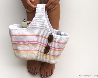 Crochet Grab Bag Pattern : CROCHET PATTERN Grab and Go Project Bag Instant Download