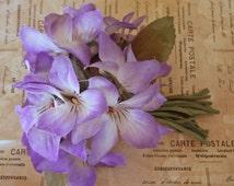 Vintage Millinery Silk Purple Posies