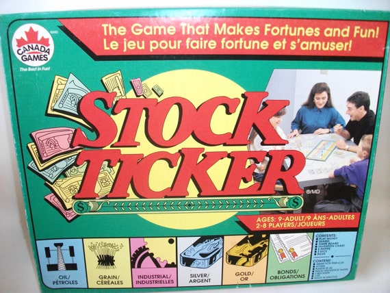 Vintage Stock Ticker Family Board Game